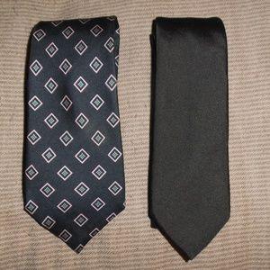 Two Silk Ties Burberrys Burberry